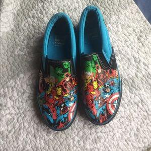 Marvel Shoes - NWOT Marvel Comic Slip one size 5