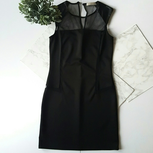 Malloy Dresses Black Dress With Mesh Front And Back Poshmark