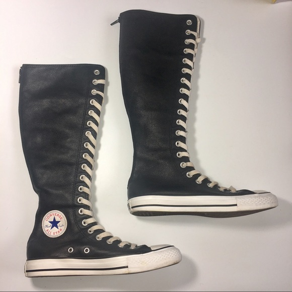 62ca38e6613b76 Converse Shoes - Converse All Star Leather Knee High Tops Shoes