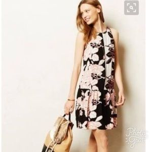 Anthropologie Maeve Photoflora Dropwaist Dress