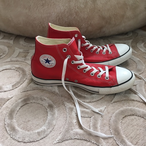 Converse Shoes   Mens Red Real Leather