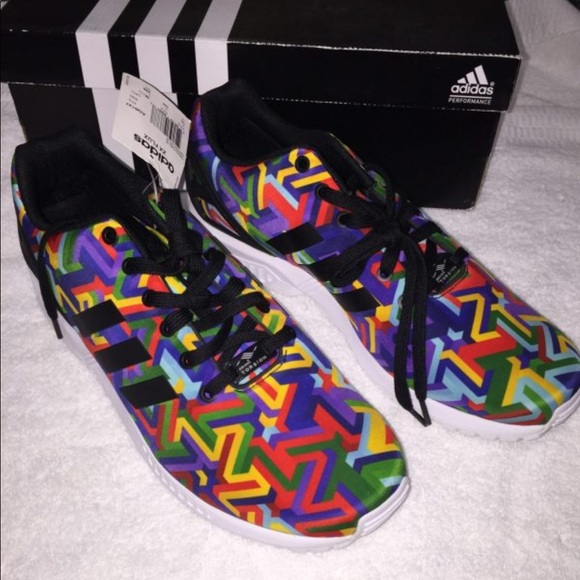 free shipping bcd68 41881 Men's Adidas ZX Flux Multi Colored Shoe! NWT