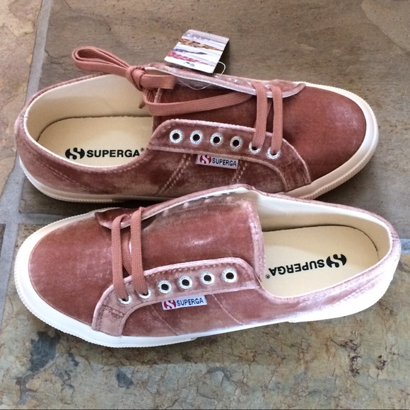 Nib Superga Blush Pink Velvet Sneaker