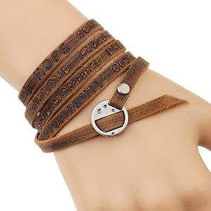 Jewelry - Genuine Leather Wrap around Bracelet