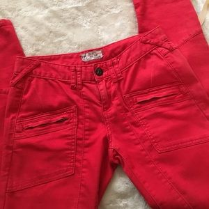 Final!!! Free people utility moto red jeans - 27