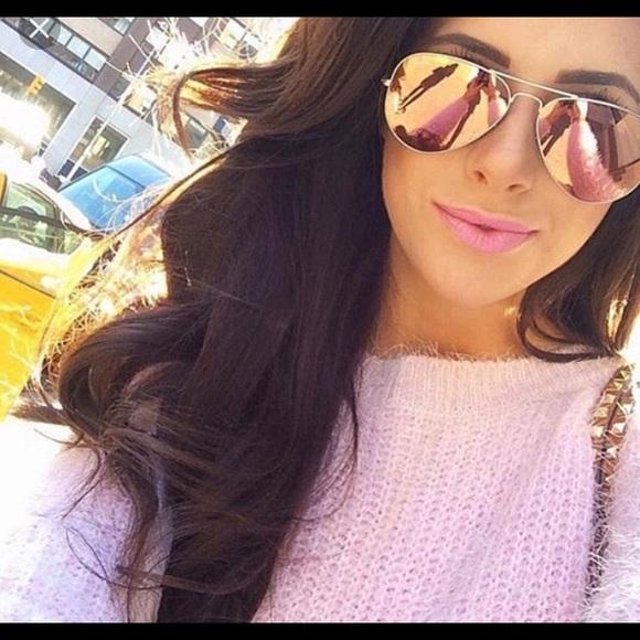f8cbb46f0a7 Ray Ban brown pink mirror Aviator sunglasses 58mm.  M 59860290713fdea91e02fed0