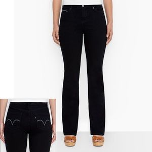 Levi 512 slimming bootcut black wash jeans