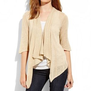 Cable and Gauge Cream Cardigan