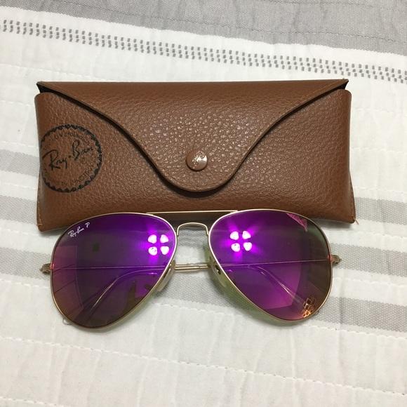 aaf3751f2c5 Ray-Ban polarized purple aviators 🕶. M 5986047d2ba50ad64a02fb54. Other  Accessories ...