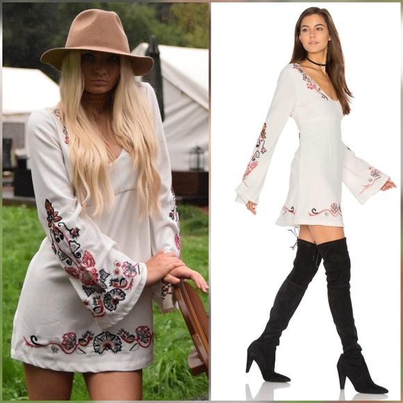 4e390fab9512 Free People Dresses | Holiday Folk Mini Dress Bell Sleeve | Poshmark