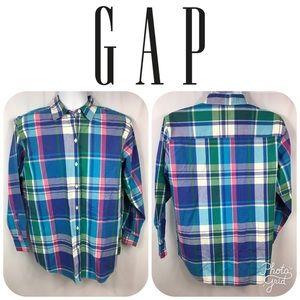 GAP Men's Plaid Casual Dress Shirt Size S