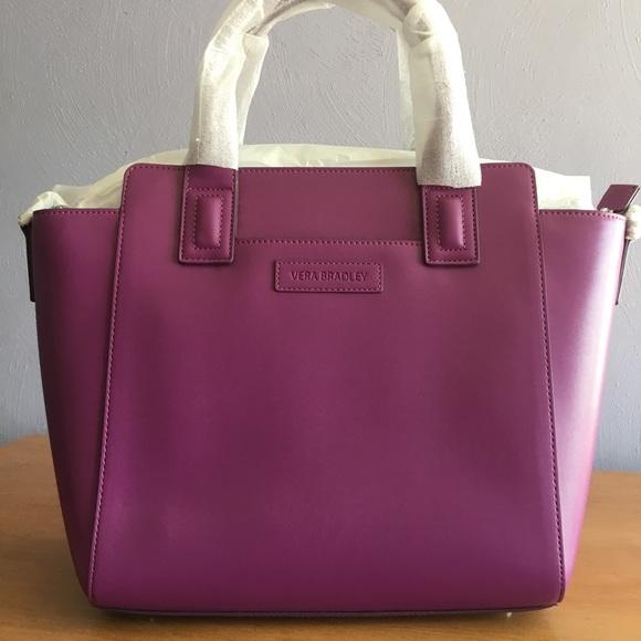 188e679c8d NWT Vera Bradley Faux Leather Satchel Bag