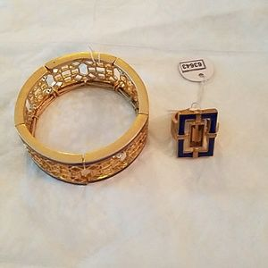 Jewelry - AUTH NWT LIA SOPHIA SETS BRACELET and RING size 7
