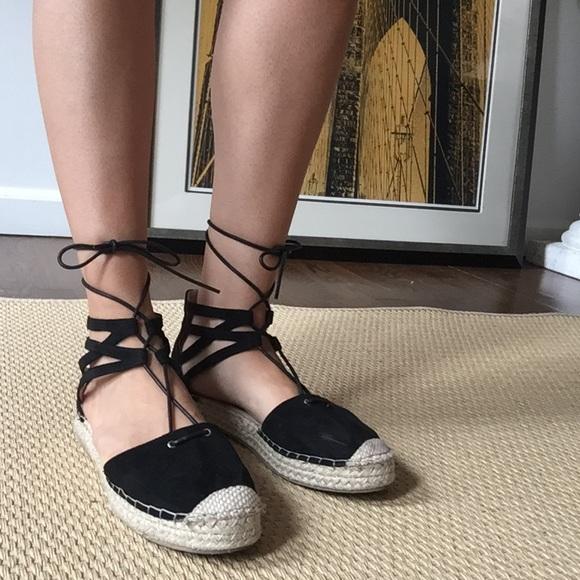 f96161f07 Catherine Malandrino Shoes - Cute! Lace-Up Jute Espadrille Flats   Sandals