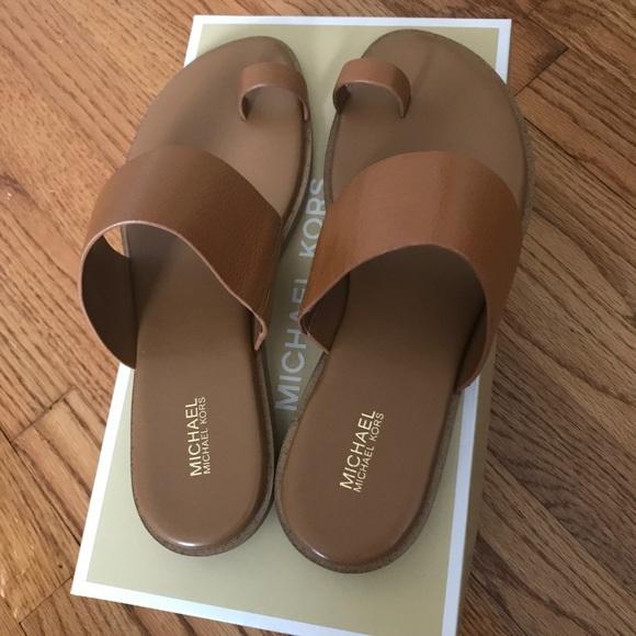 Michael Kors Sonya Flat Sandal Acorn