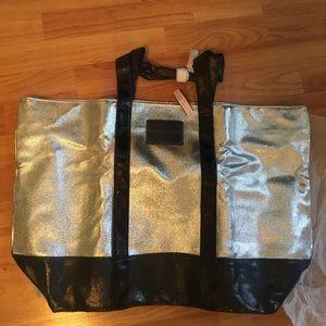 Victoria Secret Silver Tote Bag NWT