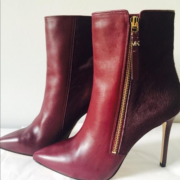 New Michael Kors Dawson Leather Calf