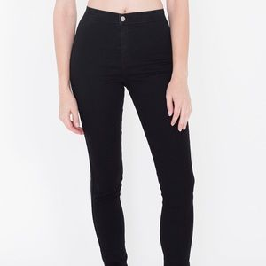 American apparel high waisted black jeans