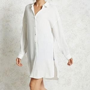 NWT Forever 21 button down shirt dress Small
