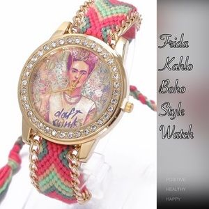 Accessories - Frida Kahlo Boho Daft Punk Watch