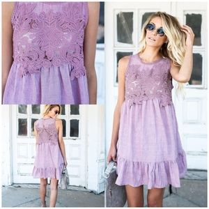 🌸 lavender & lace dress