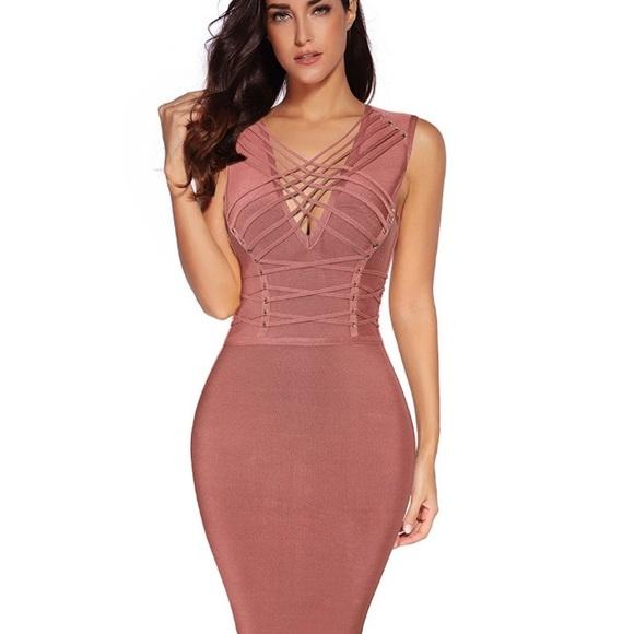 d87513932ad8 Dresses | Kim Kardashian Bebe Herve Leger Sexy Bandage Dress | Poshmark