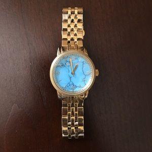 Michael Kors Gold Watch - Teal Face