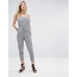 Pants - 🆕 Black & White Gingham Jumpsuit