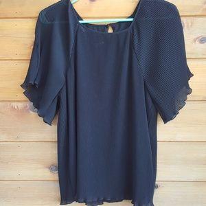Guess pleated chiffon blouse