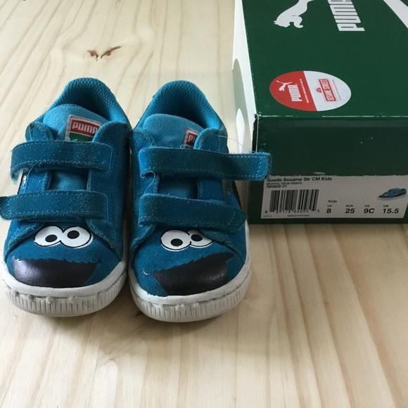 Suede Sesame Street Cookie Monster puma sneakers. M 59861c8df092828aab0356ec 22efc95b8