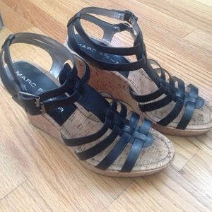 Marc Fisher Cage Wedge Sandals
