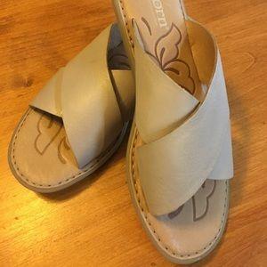 BORN slide leather sandal SIZE 7/8