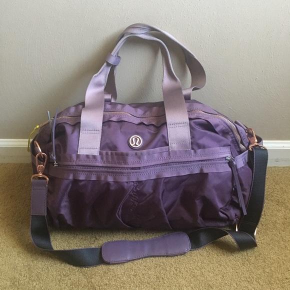 b10407b8b72 lululemon athletica Handbags - Lululemon Gym To Win Duffel Bag Purple Fog