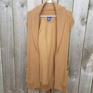 Ralph Lauren blue label brown open front cardigan