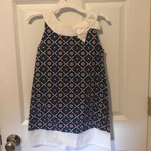 Gymboree white blue and orange dress