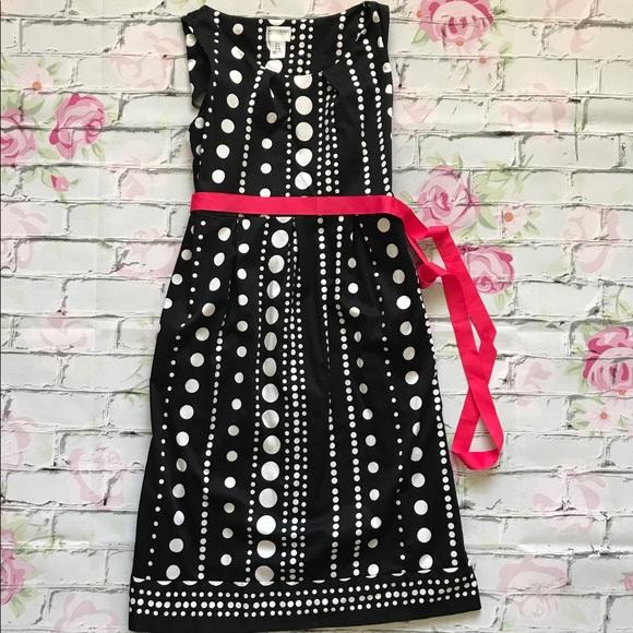 21a4fe748b02a Motherhood Maternity Black White Polka Dot Dress. M_598630afeaf030f13703c7e4