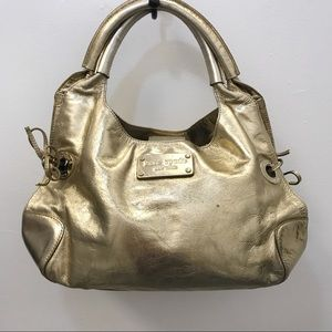 Authentic Kate Spade Metallic Gold Stevie Hobo