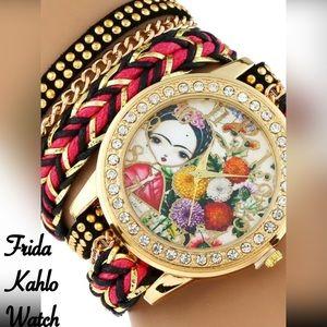 Other - Girl Frida Kahlo Wrap Bracelet Watch