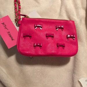Sexy hot pink Betsey Johnson Wristlet