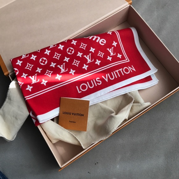 Supreme Louis Vuitton Bandana Red
