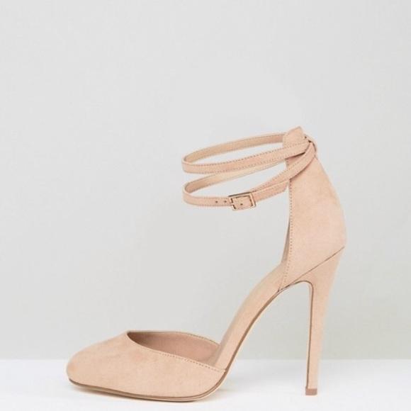Asos Ankle Strap Wide Width Heels