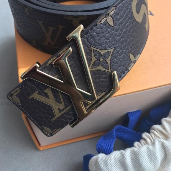 cf6dedb3d186 Brown supreme Louis Vuitton leather belt size 100