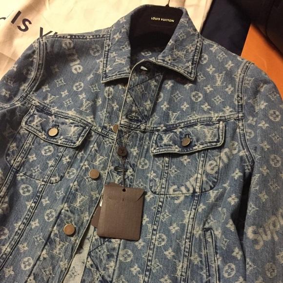 3960d105b Supreme Louis Vuitton denim jacket NEW NWT