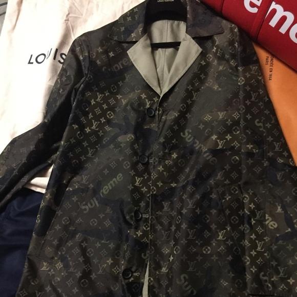 737d8efd7 Louis Vuitton Jackets & Coats | Supreme Reversible Trench Coat ...