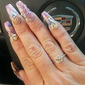 Jewelry - New 18K WGP November Birthstone Ring Size 8
