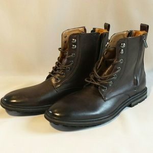f2784427b12 ROBERT WAYNE Thatcher lace up boots NWT