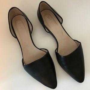 J. Jill Black Leather D'Orsay Flats