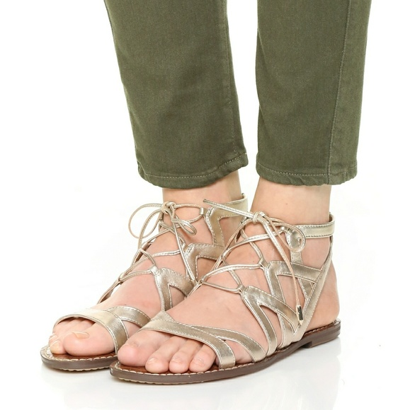 3ed96b9311a SAM EDELMAN Gemma Gladiator Lace-up Sandals. M 598656c74127d00bcf043c6a