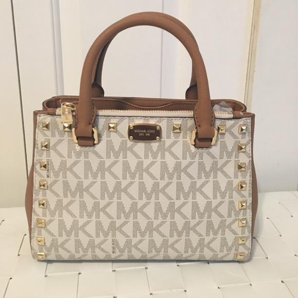 6a8b509403fe65 Michael Kors Bags | Kellen Studded Xs Satchel Bag Nwt | Poshmark