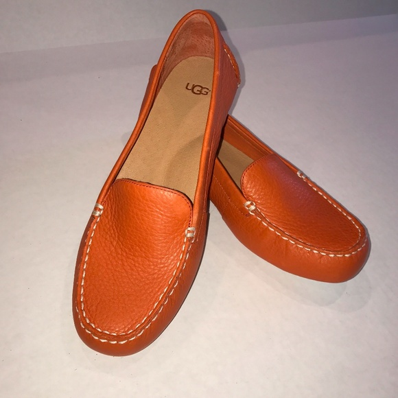 03770c0b17e UGG Milana Leather Loafers in Fire Opal Boutique